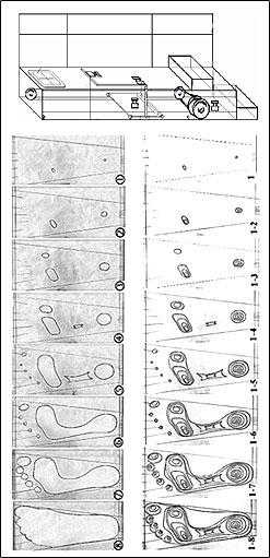 Обследване на стъпалото по време на ходене и синтез на бионически стелки